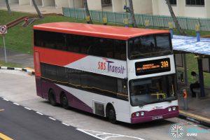 Bus 31A - SBS Transit Volvo B10TL (SBS9811T)