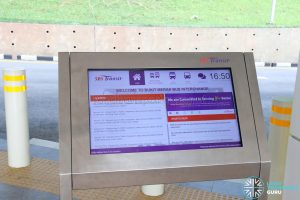SBS Transit Interactive Panel - Bukit Merah Bus Interchange