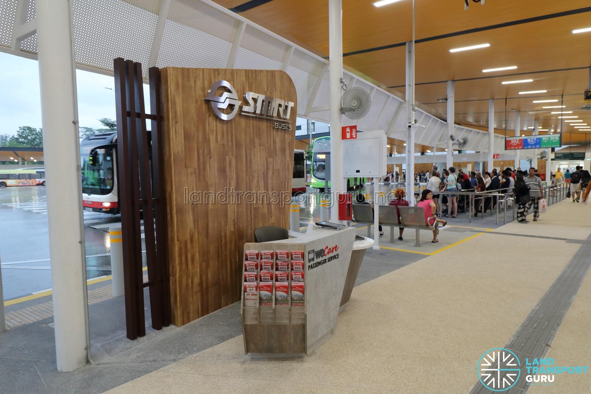 New Choa Chu Kang Bus Interchange - SMRT WeCare Passenger Service Counter