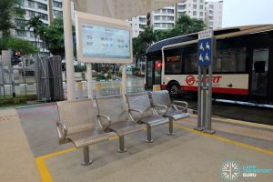 New Choa Chu Kang Bus Interchange - Reserved Seating & Bus Arrival Display Screen