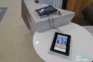 New Choa Chu Kang Bus Interchange - Tablets at SMRT WeCare Passenger Service Counter