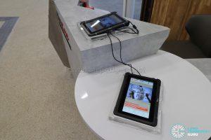 New Choa Chu Kang Bus Interchange - Tablets at SMRT WeCare Passenger Service Counter