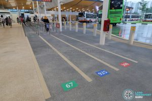 New Choa Chu Kang Bus Interchange - Queue Markers