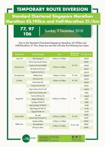 Tower Transit Poster for Standard Chartered Singapore Marathon - 42.195km Marathon & 21.1km Half Marathon (2018) [1/2]