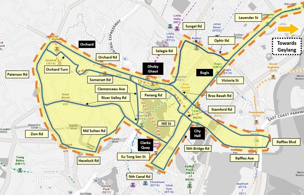 LTA On Demand Public Bus - Service Area for Night Bus (CBD)