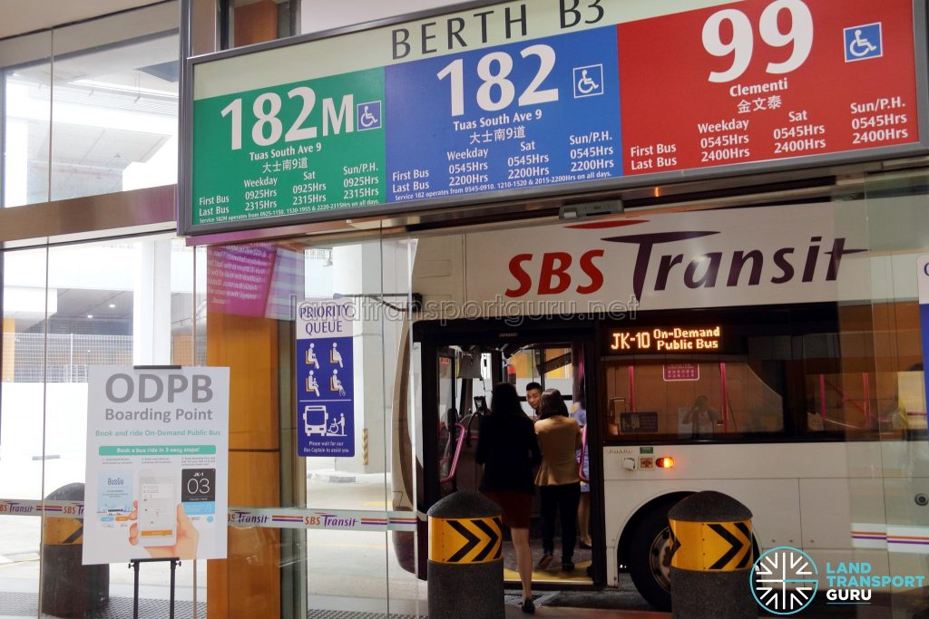 On-Demand Public Bus Boarding Point at Joo Koon Bus Interchange (Berth B3)
