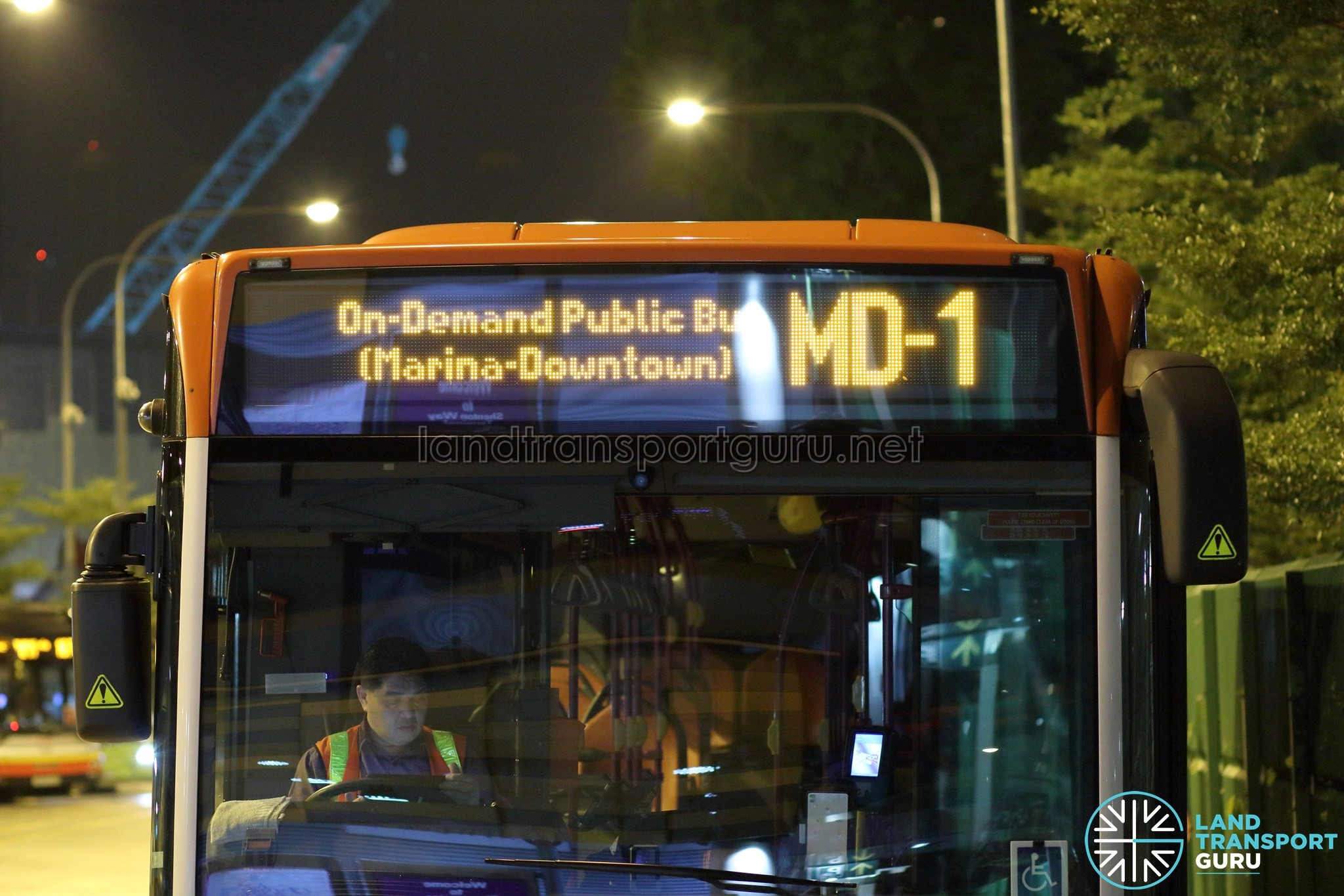 On-Demand Public Bus (Marina-Downtown) - MD-1