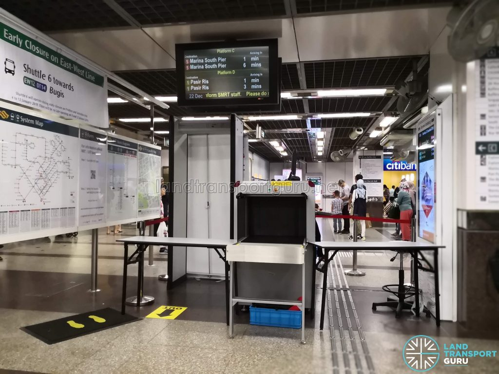 Security Screening Equipment at City Hall MRT Station