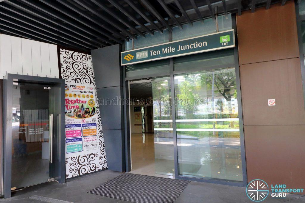 Ten Mile Junction LRT Station Entrance