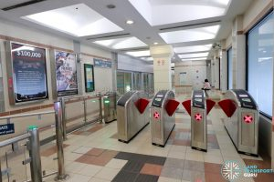 Ten Mile Junction LRT Station - Faregates