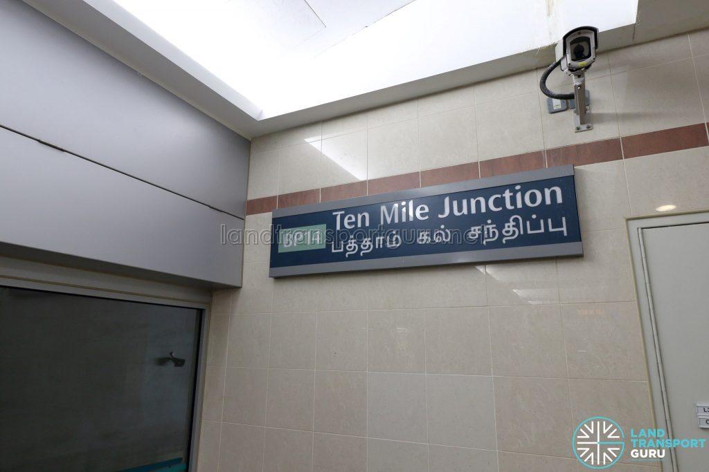 Ten Mile Junction LRT Station - Station Sign
