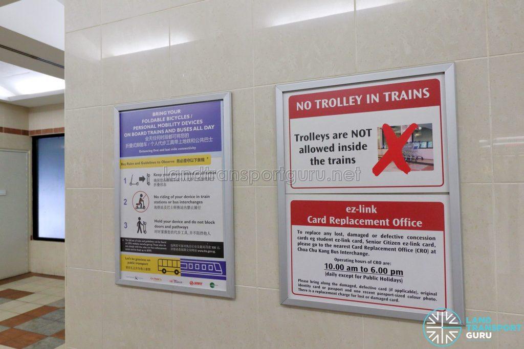 Ten Mile Junction LRT Station - Notice Board