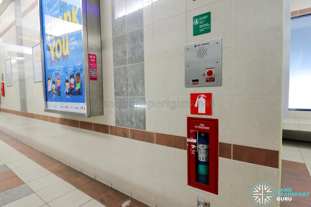 Ten Mile Junction LRT Station - Intercom & Fire Extinguisher