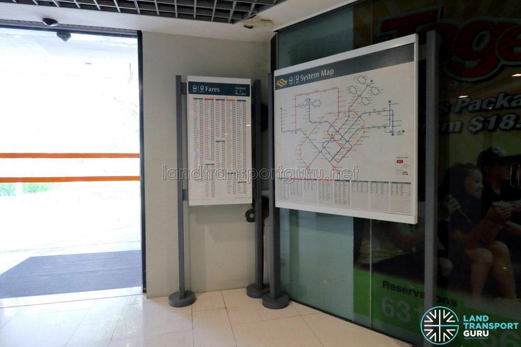 Ten Mile Junction LRT Station - Fares & System Map at Level 1