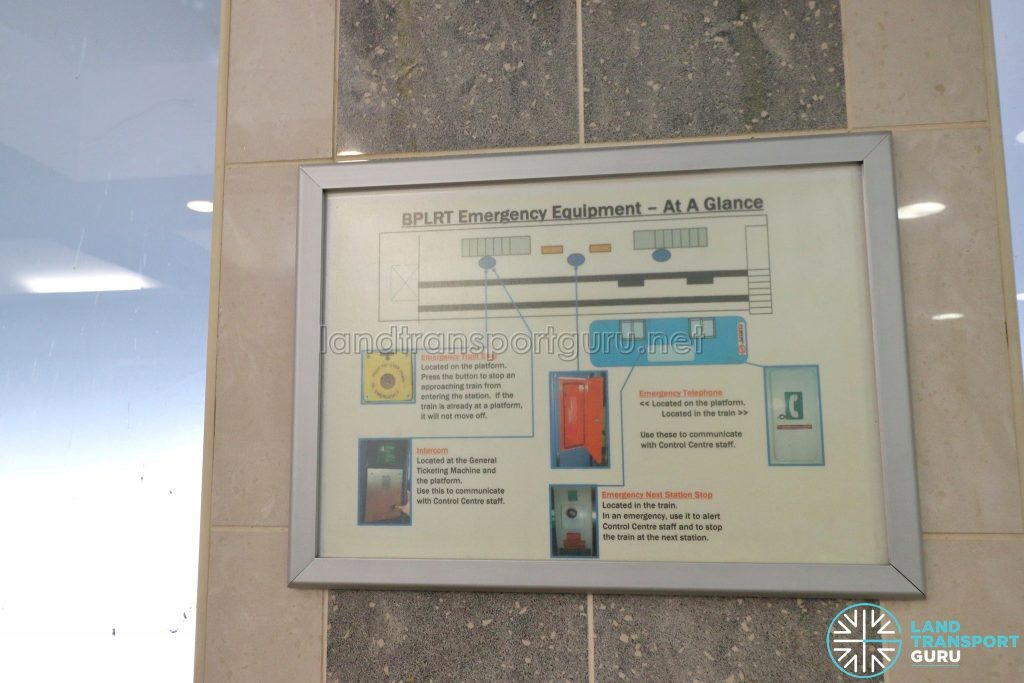Ten Mile Junction LRT Station - BPLRT Emergency Equipment Poster