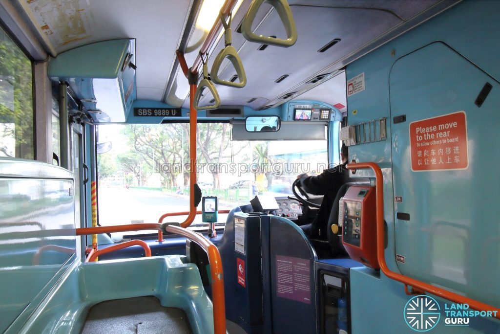 Volvo B10TL (CDGE) (SBS9889U) - Lower deck front section