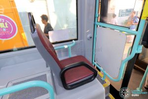 Volvo B5LH - Front Single Priority Seat