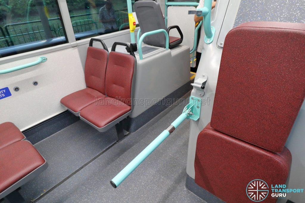 Volvo B5LH - Wheelchair Bay with armrest deployed