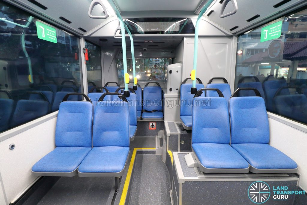 Volvo B5LH - Rear Seating with Passenger Information Display System off
