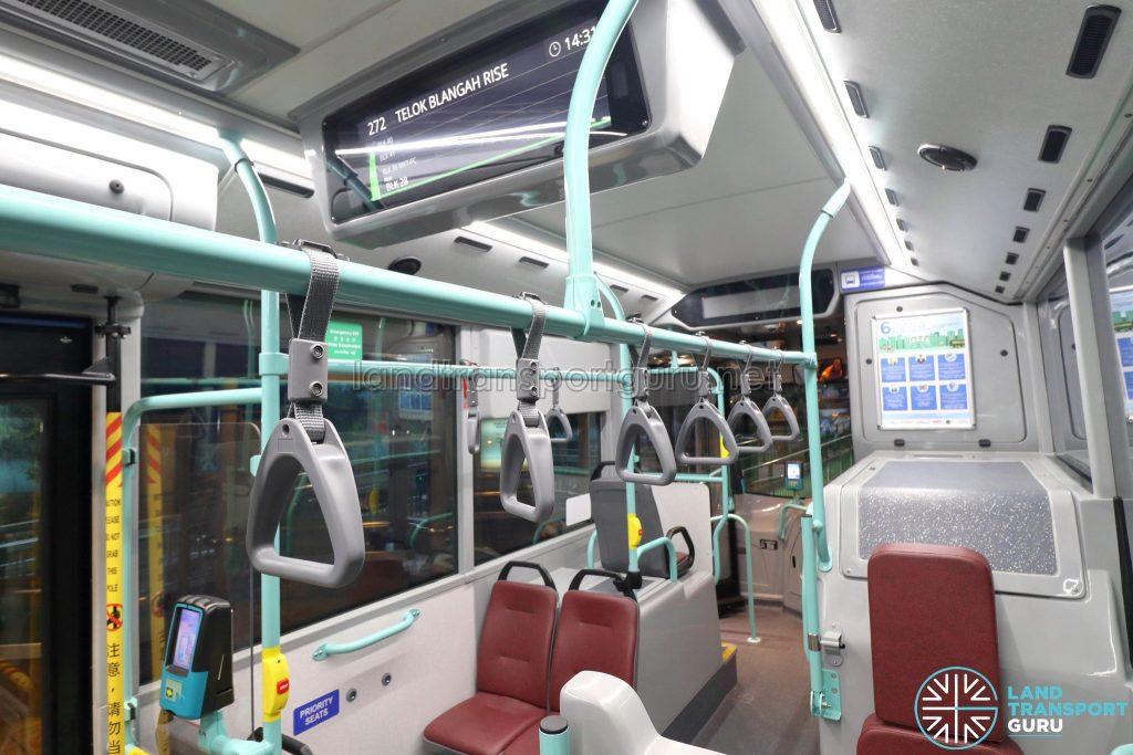 Volvo B5LH - Interior with Passenger Information Display System