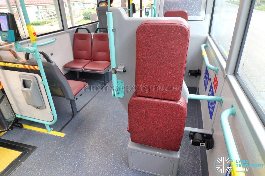Volvo B5LH - Wheelchair Bay Backrest with Seatbelt