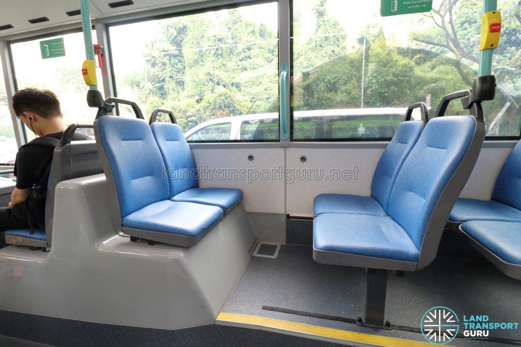Volvo B5LH - Rear Seating