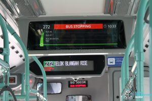 Interior PIDS for Volvo B5LH Buses (Bus Stopping)