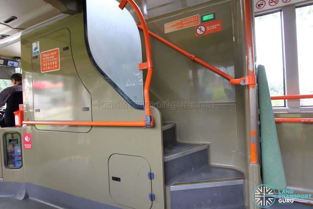 Volvo B9TL (CDGE) – Original Interior – Stairwell