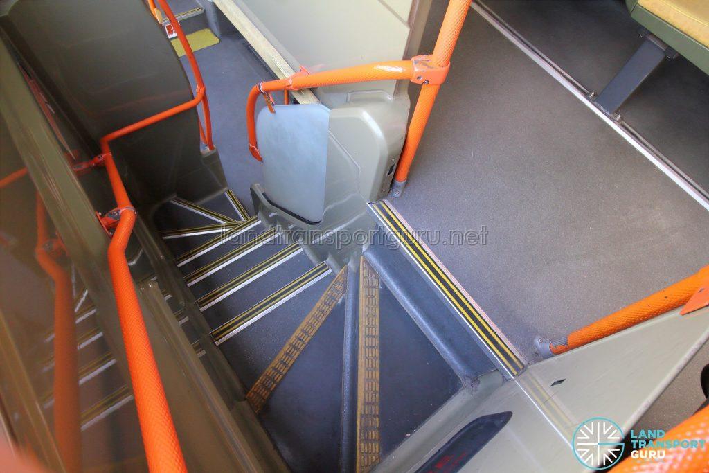 Volvo B9TL (CDGE) – Original Interior – Staircase