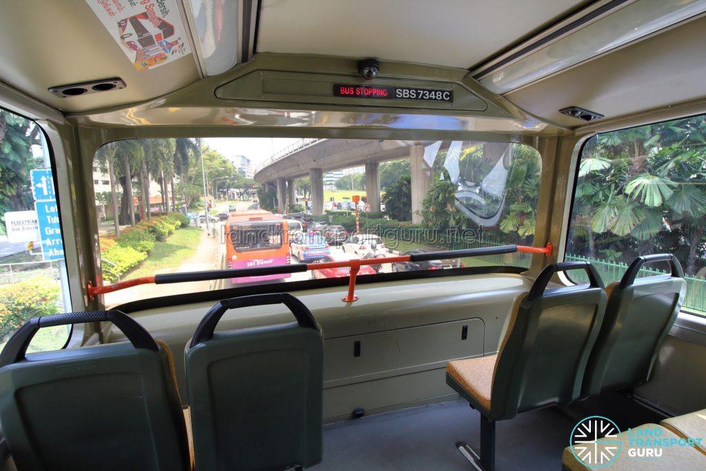 Volvo B9TL (CDGE) – Original Interior – Upper Deck front window