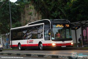 Bus Service 75A – SMRT MAN A22 (SMB1355E)