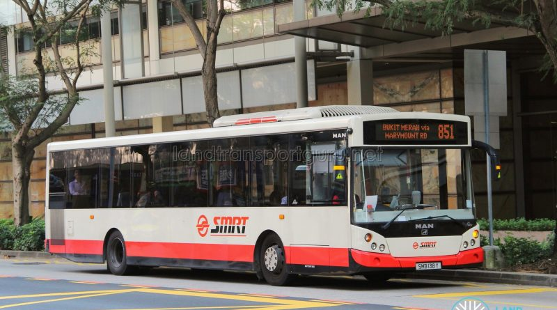 Bus 851 - SMRT Buses MAN A22 (SMB138Y)