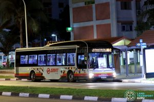 On-Demand Public Bus (Night Bus) NB-2 – SMRT MAN A22 (SMB1487H)