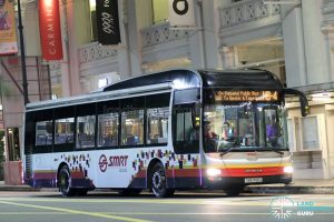 On-Demand Public Bus (Night Bus) NB-4 – SMRT MAN A22 (SMB1491U)