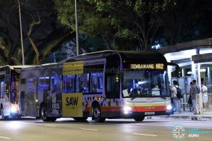 NightRider NR2 - SMRT Buses MAN A22 (SMB1495J)