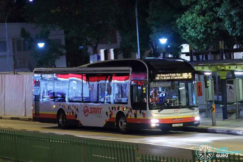 On-Demand Public Bus (Night Bus) NB-5 – SMRT MAN A22 (SG1708Z)