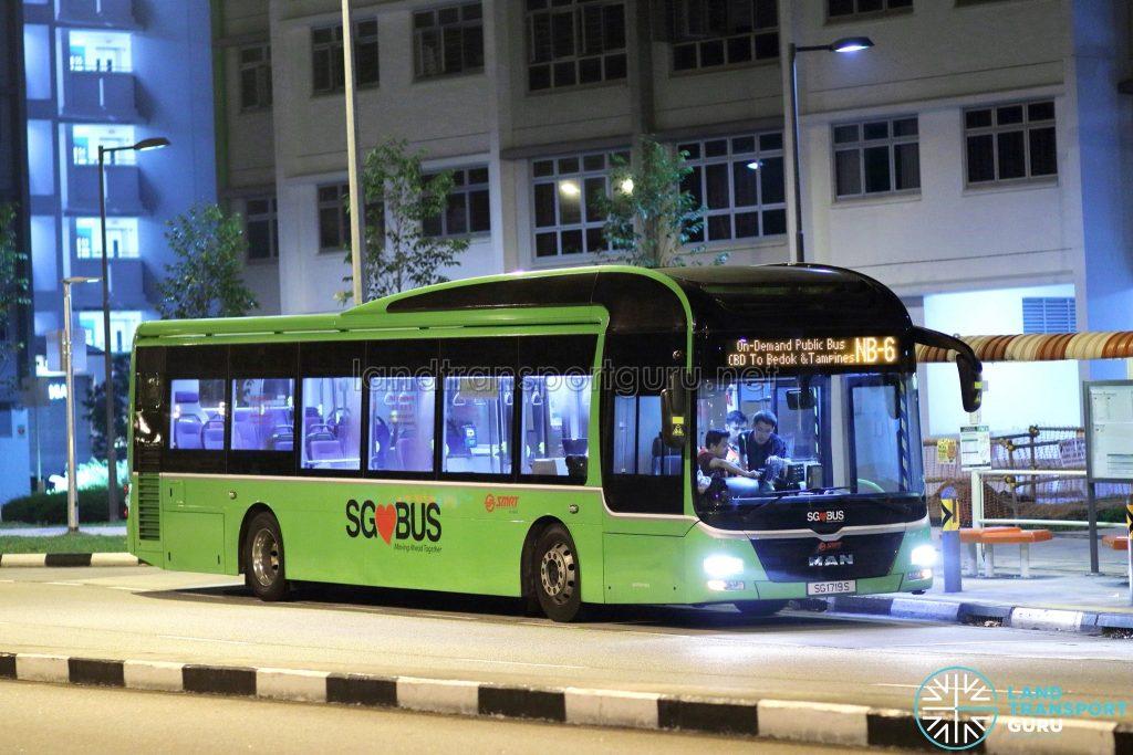 On-Demand Public Bus (Night Bus) NB-6 – SMRT MAN A22 (SG1719S)