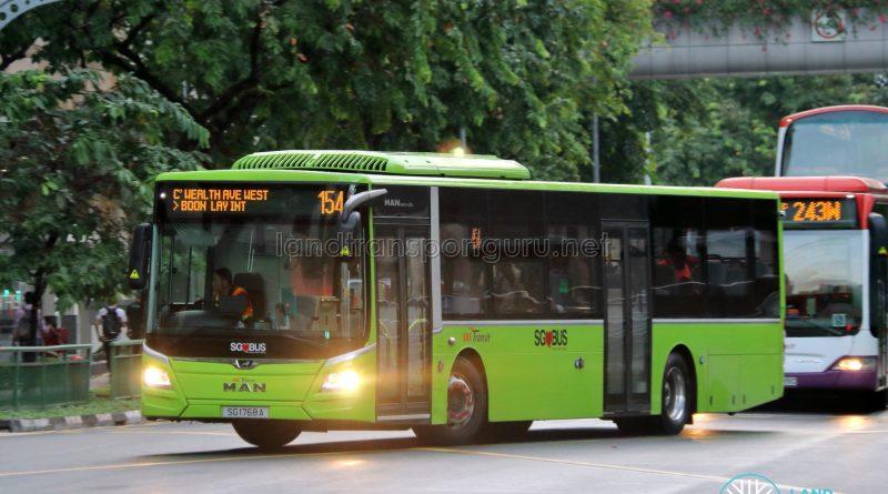 Bus 154 - SBS Transit MAN A22 Euro 6 (SG1768A)