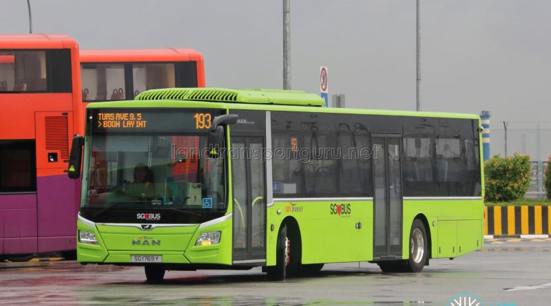 Bus 193 - SBS Transit MAN A22 Euro 6 (SG1769Y)