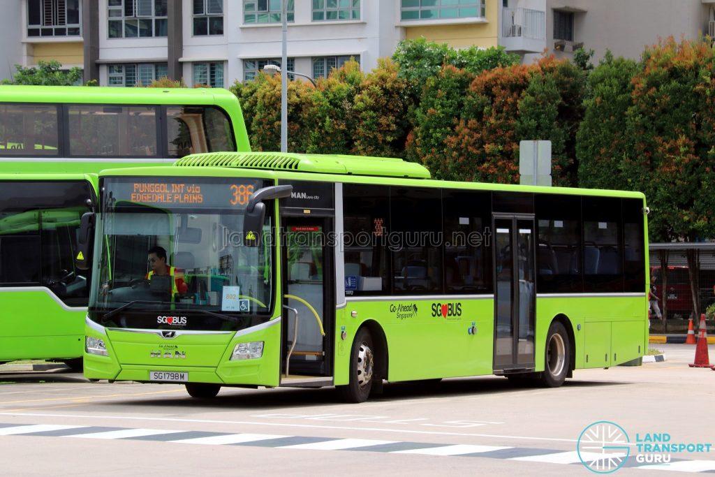 Bus 386 - Go-Ahead MAN A22 Euro 6 (SG1798M)