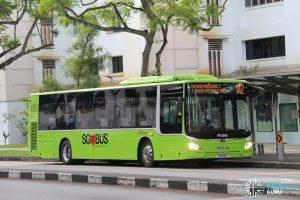 Bus 142 - SBS Transit MAN A22 Euro 6 (SG1810K)