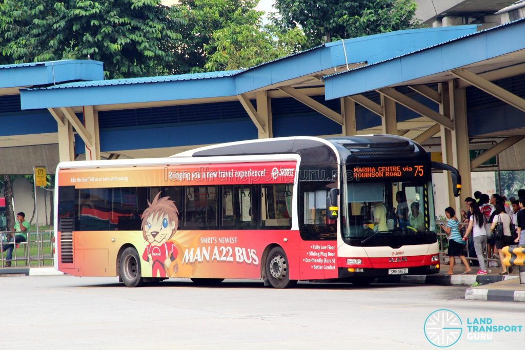 Bus 75 - SMRT Buses MAN A22 (SMB196D)