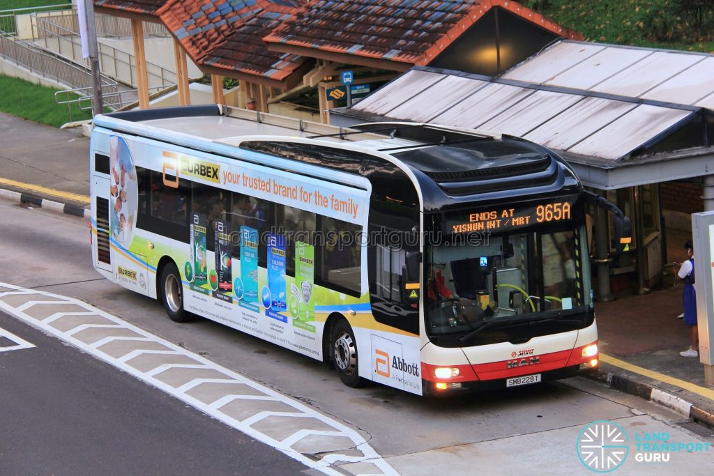 Bus 965A - SMRT Buses MAN A22 (SMB229T)