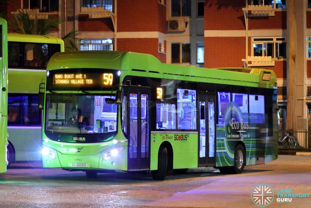 Bus 59 - SBS Transit Volvo B5LH (SG3005E)