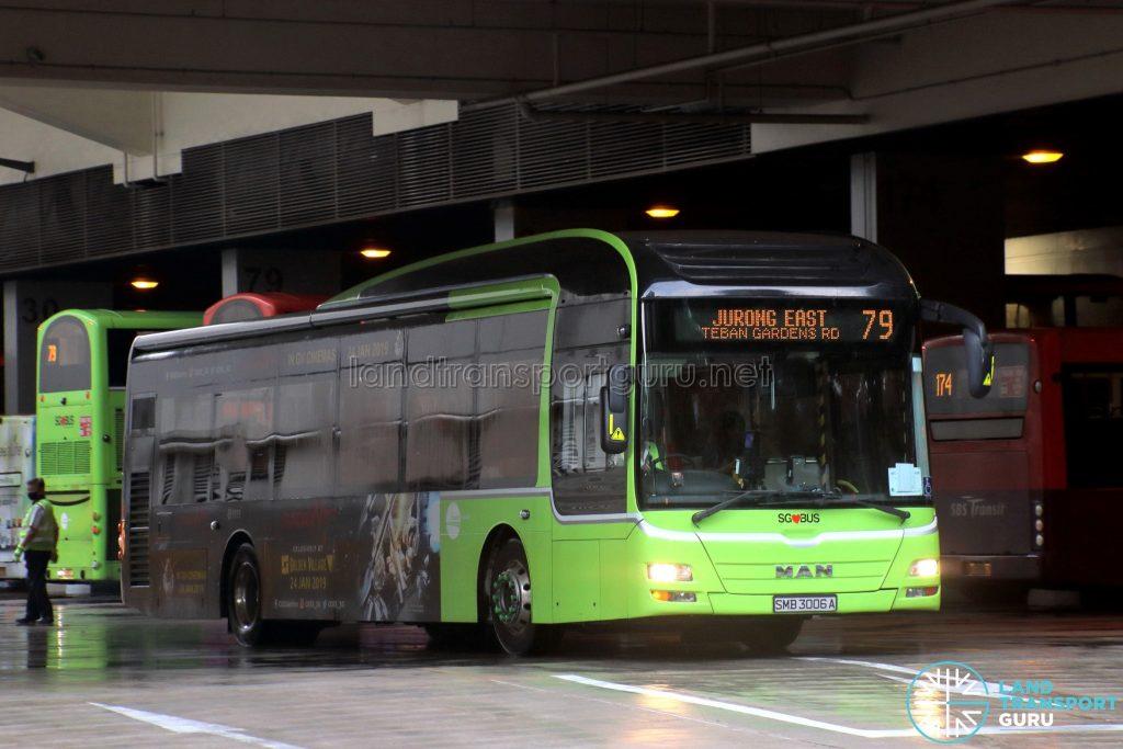Bus 79 - Tower Transit MAN A22 Euro 5 (SMB3006A)