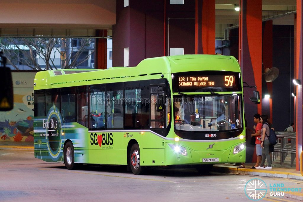 Bus 59 - SBS Transit Volvo B5LH (SG3018T)