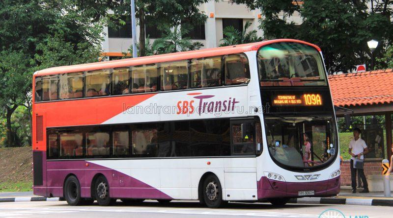 Bus Service 109A - SBS Transit Volvo B9TL Wright (SBS3060H)