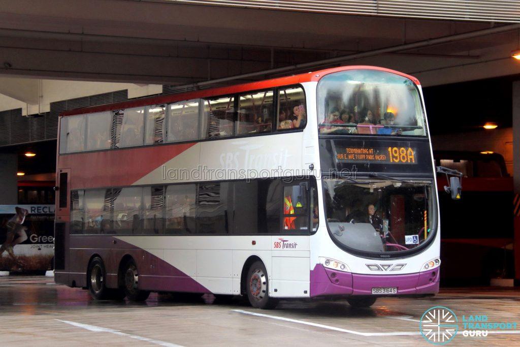 Bus Service 198A - SBS Transit Volvo B9TL Wright (SBS3164S)