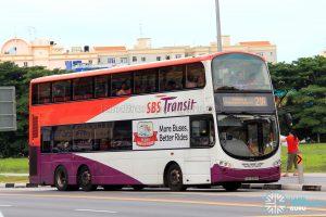 Bus Service 21A - SBS Transit Volvo B9TL Wright (SBS3318R)