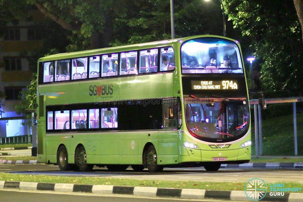 Bus Service 974A - Tower Transit Volvo B9TL (SBS3414X)